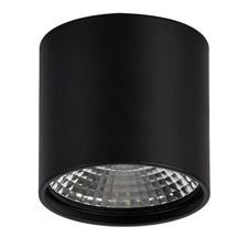Matt Black LED Surface Mounted Round Down Light