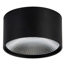Matt Black Dimmable LED Surface Mounted Round Down Light