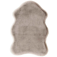 Brown Pony Power-Loomed Shaped Rug