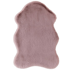 Dusty Pink Pony Power-Loomed Shaped Rug