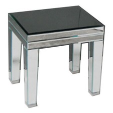 Mirror Side Table With Full Mirrored Legs