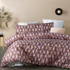 Purple Brunswick Quilt Cover Set