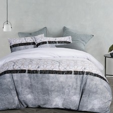 Marble Printed Quilt Cover Set