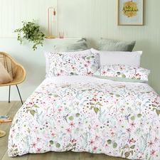 White Flora Quilt Cover Set