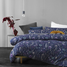 Blue Melrose Quilt Cover Set