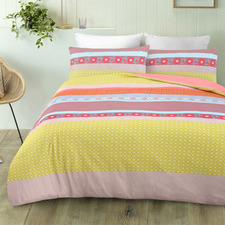 Multi-Coloured Malta Microfibre Quilt Cover Set