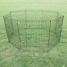 8 Panel Pet Playpen Fence Enclosure