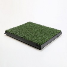 Indoor 1 Grass Mat Dog Pet Potty Training Toilet Portable