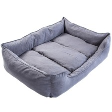 Grey Husk Dog Suede Sofa