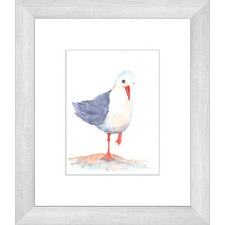 Seagull Watercolour Two of Three Framed Print