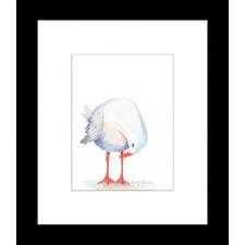 Seagull Watercolour Three of Three Framed Print