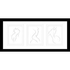 Classic Contours Framed Trio Print