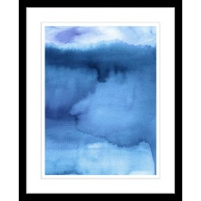 Blues Watercolour Framed Abstract Print