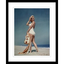 Marilyn at the Beach Three of Seven Framed Print