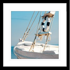 By the Seaside VIII Framed Print