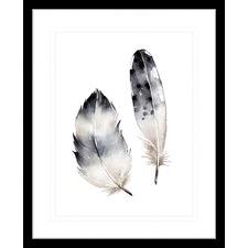 Flourishing Feathers I Framed Print