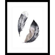 Flourishing Feathers II Framed Print