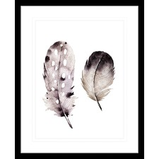 Flourishing Feathers III Framed Print