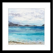 Seascapes I Framed Print