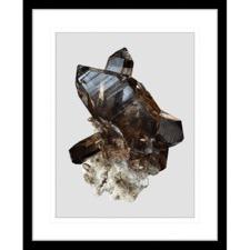 Onyx & Quartz IV Framed Print