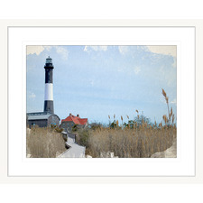 Hamptons Postcard lll Framed Printed Wall Art
