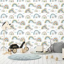 Earthchild Rainbows Peel & Stick Wallpaper