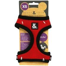 Red Soft Mesh Dog Harness