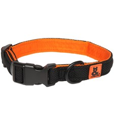 Black & Orange Air Mesh Collar