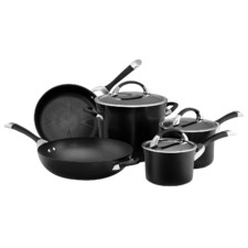 5 Piece Hard Anodised Cookware Set