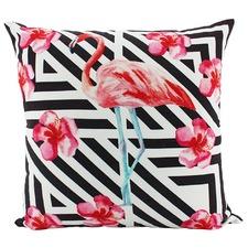 Pink Flamingo Square Cushion