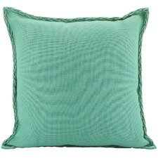 Mint Cord Square Cushion
