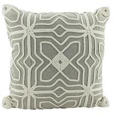 Sand Trellis Square Cushion