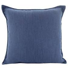 Navy Basic Square Linen Cushion