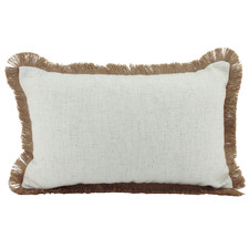 Fringed Basic Rectangular Cushion