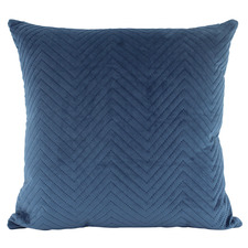 Quilted Square Velvet Cushion