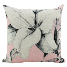 Pink Large Lilies Square Cushion