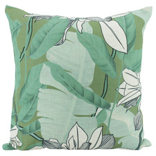 Green Tropical Square Cushion