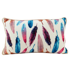Bright Feathers Rectangular Cushion