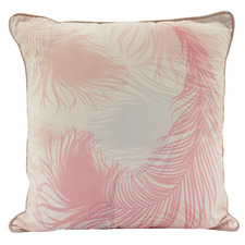 Marshmallow Feathers Square Cushion