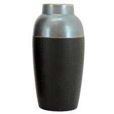Black Zuma Ceramic Vase