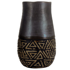 Small Black Tozi Ceramic Vase