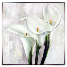 White Calla Lilly Framed Canvas Wall Art
