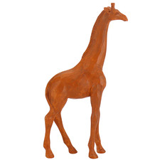 Caramel Polyresin Giraffe Sculpture
