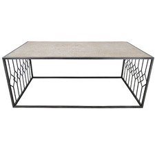 Eros Wood & Metal Coffee Table