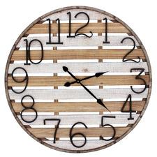 96cm Cliff Wood & Metal Wall Clock