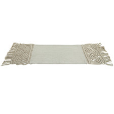 Natural Lakota Macrame Cotton Table Runner