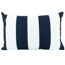 Navy Striped Deniece Lumbar Cushion