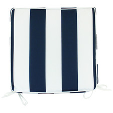 Striped Shevy Outdoor Chair Pad