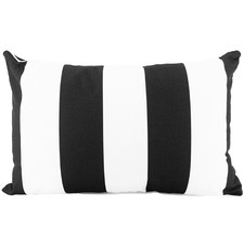 Striped Shevy Outdoor Lumbar Cushion
