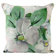 Pink Magnolia Velvet Cushion